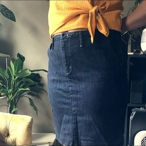 Banana Republic High-Rise Denim Mini-Skirt
